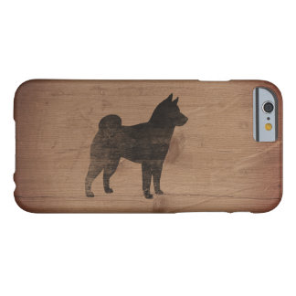 Shiba Inu Silhouette Rustic Barely There iPhone 6 Case