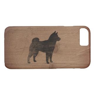 Shiba Inu Silhouette Rustic Case-Mate iPhone Case