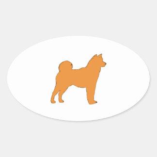 Shiba Inu silo color.png Oval Sticker