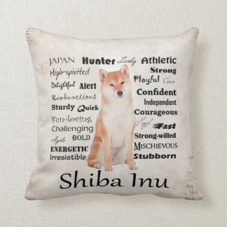 Shiba Inu Traits Pillow