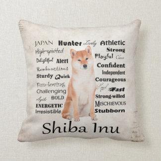 Shiba Inu Traits Pillow
