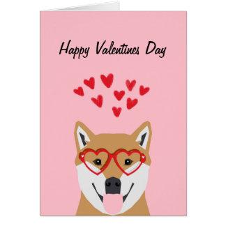 Shiba Inu Valentines Love Card