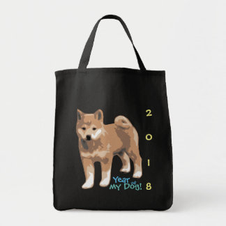 Shiba inu Year of my Dog 2018 Cotton Grocery Bag