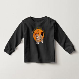 Shiba inu Year of The Dog 2018 Black Long Sleeves Toddler T-shirt