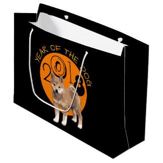 Shiba inu Year of the Dog 2018 Large Gift Bag