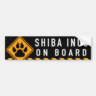Shiba Inus On Board Bumper Sticker