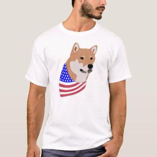 Shiba Inus: Patriotic Flag Bandana Shiba Inu T-Shirt