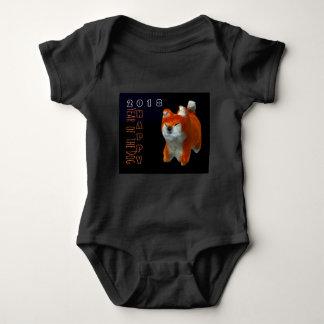 Shiba Puppy 3D Digital Art Dog Year 2018 Baby B Baby Bodysuit