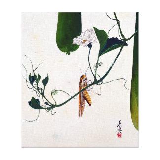 Shibata Zeshin Grasshopper on Gourd Vine Canvas Print