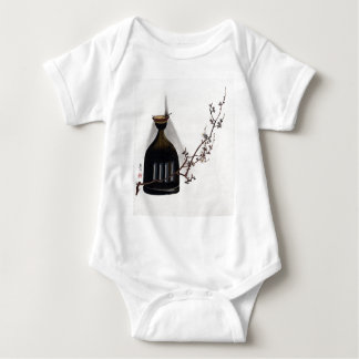 Shibata Zeshin Plum Branch with Oil Lamp Baby Bodysuit