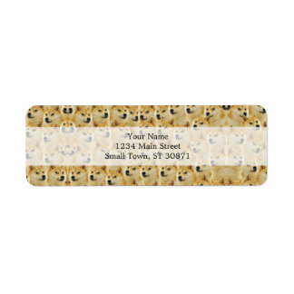 shibe doge fun and funny meme adorable return address label