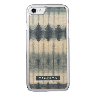 Shibori Indigio Print Carved iPhone 7 Case