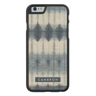 Shibori Indigio Print Carved® Maple iPhone 6 Case