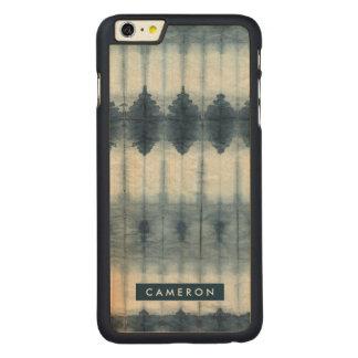 Shibori Indigio Print Carved® Maple iPhone 6 Plus Case
