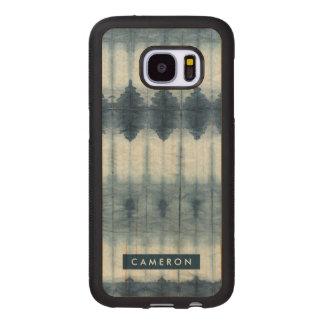 Shibori Indigio Print Wood Samsung Galaxy S7 Case