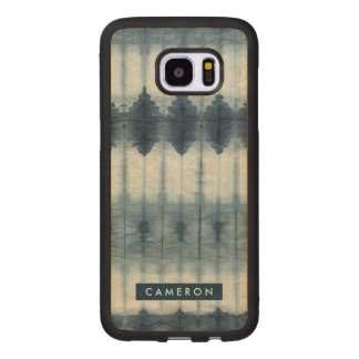 Shibori Indigio Print Wood Samsung Galaxy S7 Edge Case