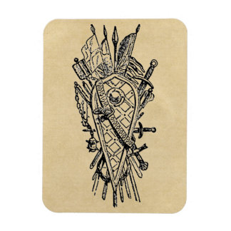 Shield and Sword Fencing Logo Magnet