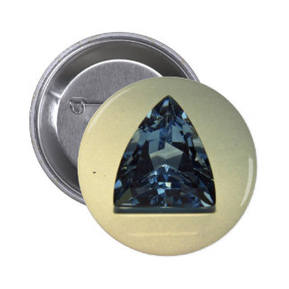 Shield cut blue topaz pinback buttons
