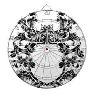 Shield Knight Heraldic Crest Coat of Arms Emblem Dartboard