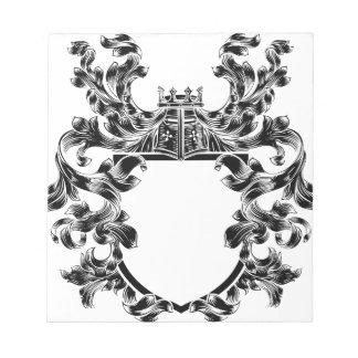 Shield Knight Heraldic Crest Coat of Arms Emblem Notepad