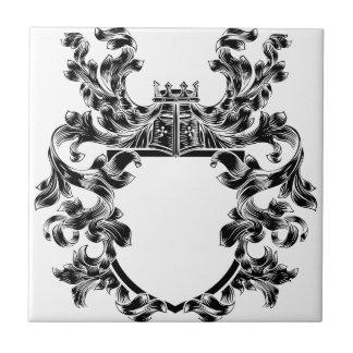 Shield Knight Heraldic Crest Coat of Arms Emblem Tile