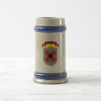 shield logo beer stein