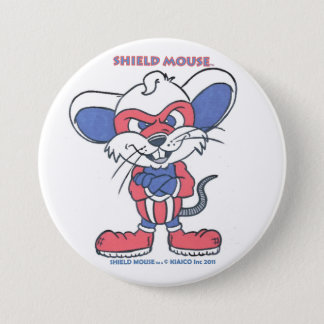 SHIELD MOUSE 3 INCH ROUND BUTTON