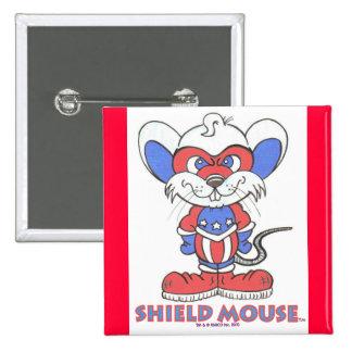 SHIELD MOUSE Badge 2 Inch Square Button