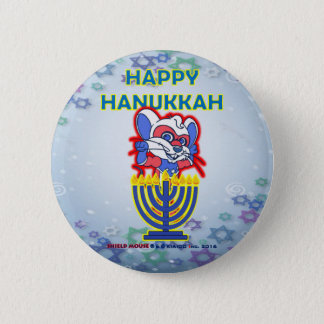 SHIELD MOUSE Happy Hanukkah Button 2016