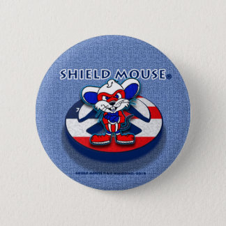 SHIELD MOUSE Patriotic Peace (Blue Jean) Button