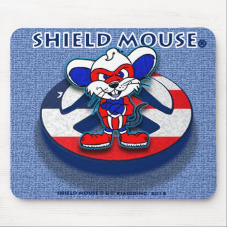 SHIELD MOUSE Patriotic Peace (Blue Jean) Mouse Pad