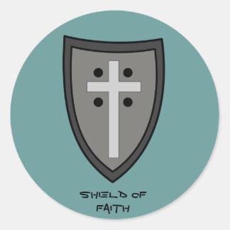 Shield of Faith Classic Round Sticker
