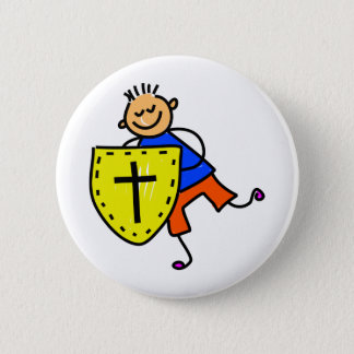 Shield of Faith Kid 2 Inch Round Button