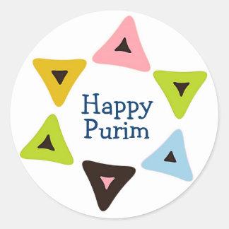 """""""Shield of Hamantaschen"""" Happy Purim Sticker"""