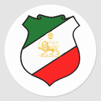 Shield of Iran Classic Round Sticker