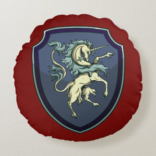 Shield of the Unicorn Pillow