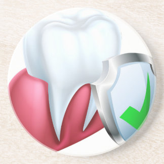 Shield Tooth and Gum Coaster