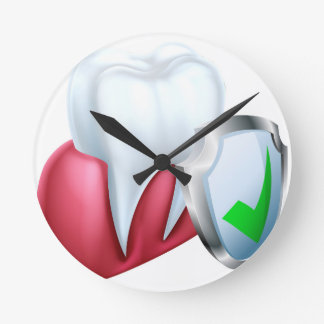 Shield Tooth and Gum Round Clock