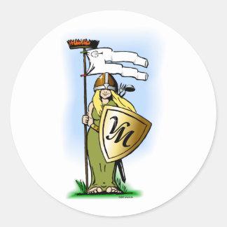 Shieldmaidens of Viggo-Works Classic Round Sticker