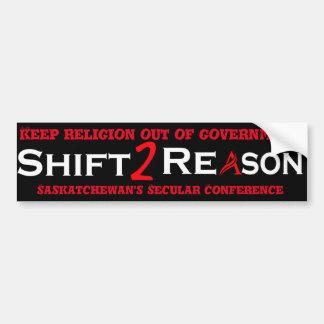 Shift 2 Reason bumper sticker