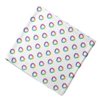 Shifted Pastel Polka Dots Pattern Custom Backgrnd Bandanas