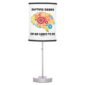 Shifting Gears Can Be Hard To Do Brain Gears Desk Lamp