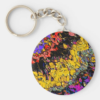 Shifting Shapes And Colors Basic Round Button Keychain