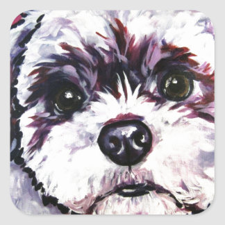 Shih Tzu 2 Square Sticker