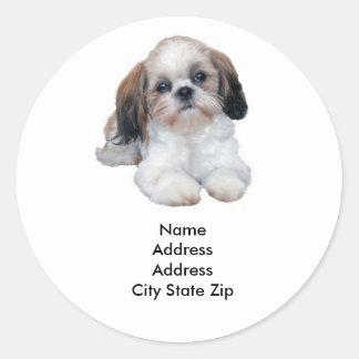 Shih Tzu Address Label