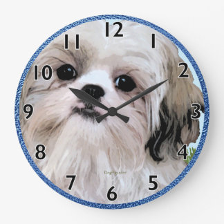 Shih Tzu Art Clock