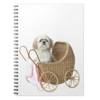 Shih Tzu baby carriage Notebook