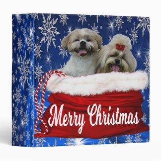 Shih tzu Binder Christmas