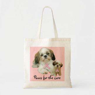 Shih Tzu Breast Cancer Tote Bag