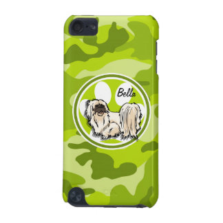 Shih Tzu bright green camo camouflage iPod Touch (5th Generation) Cases